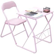children folding table and chair kids folding table chair set modern pink wood study writing desk