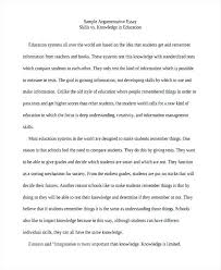 examples of argumentative essays example essays education sample  examples