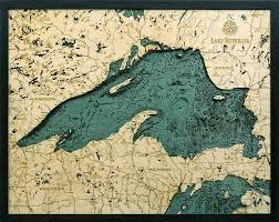Lake Michigan Bathymetry Chart Bathymetric Map Lake Superior