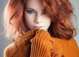 Tapety Tvář ženy Ryšavý Model Portrét Dlouhé Vlasy Modré Oči