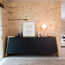 contemporary sideboard solid wood ash glass ages