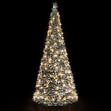Pre Lit Snow Flocked Pop Up Christmas Tree 1.8m (200 Warm White Lights):  Amazon.co.uk: Kitchen & Home