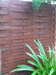 Patio Privacy Fence Basketweave Steel Privacy Fence Gisler Metal Works Pinterest
