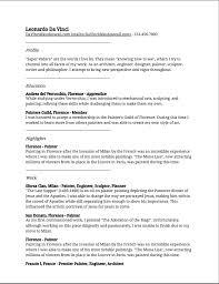The Perks Of A Customizable Resume KudosWall Impressive Leonardo Da Vinci Resume
