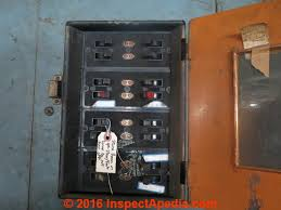 old house wiring inspection & repair electrical grounding, knob Cost Of New Fuse Box 2015 1930's electrical panel in a huntingdon pa factory building (c) inspectapedia com lm Locking Electrical Fuse Box