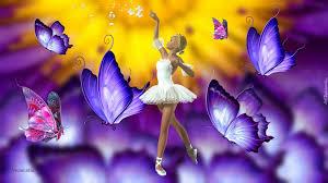 Grafika, Baletnica, Motyle, Taniec