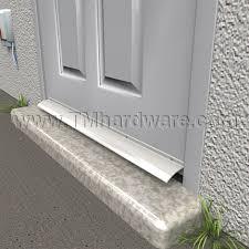 bottom door guard. rain drip strip on bottom of door guard n