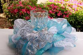 Turquoise And White Wedding Decorations Similiar Turquoise And Silver Centerpieces Keywords