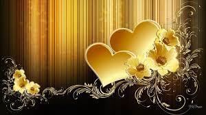 Gold wallpaper phone, Heart wallpaper ...