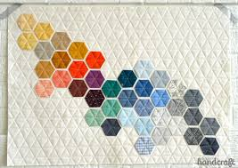 Six Swoon-Worthy Modern Quilts - Flax & Twine & The detail of this modern quilt of machine stitched hexagons had me at  first glance! The hexagons were made with a Carolyn Friedlander charm pack  like this ... Adamdwight.com