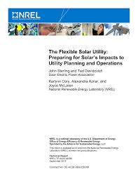 The Flexible Solar Utility: Preparing for Solar's Impacts to Utility  Planning and Operations