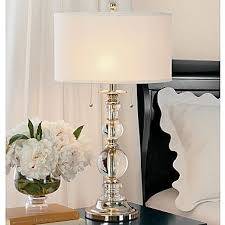 royal velvet optic crystal table lamp bedroom nightstand lamps ideas lighting models bedside