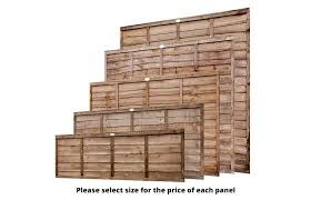 brown budget waney lap wooden garden fence panel all