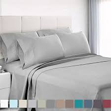 modern bed sheets.  Bed Empyrean Bedding Premium 6Piece Bed Sheet U0026 Pillow Case Set  Luxurious  Soft Full Double Size Linen Extra Deep Pocket Super Fit Fitted Silver Light  With Modern Sheets T