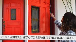 how to paint your front doorCurb Appeal How To Repaint Your Front Door  YouTube