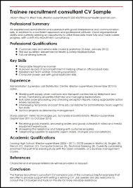 recruitment consultant cv trainee recruitment consultant cv sample myperfectcv