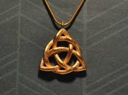 the celtic triquetra is perhaps the most famous of the celtic symbols celtic triquetra necklace