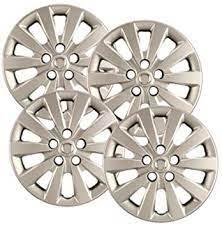 Amazon Com Hubcaps Com Premium Quality 16 Silver Hubcaps Wheel Covers Fits Nissan Sentra Heavy Duty Construction Set Of 4 Automotive
