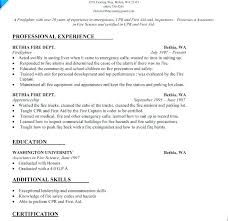 Firefighter Resume Templates Awesome Certified Medical Technician Resume Resume Sample Resume Sample