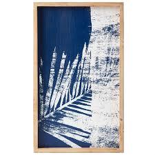 solace blue white palm wall art b