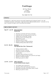 Agreeable No Experience Retail Resume Examples On Simple Sales