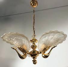 mid century chandeliers mid century 6 light