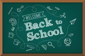 Blackboard terug naar school achtergrond | Premium Vector