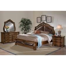Captivating Bedroom Furniture   Morocco 6 Piece King Upholstered Bedroom Set   Pecan