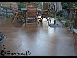 to acid stain a concrete patio floor