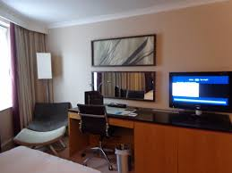 bedroom with tv and computer. Hilton Manchester Airport: TV And Computer Access Are Available In The Bedroom With Tv -