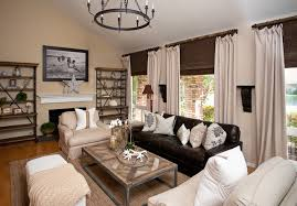 living rooms with leather furniture. example of a trendy living room design in orange county with beige walls rooms leather furniture r