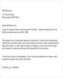 Request for Personal Leave Letter