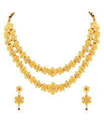 mfj fashion jewellery traditional collection gold plated necklace set for women mfj fashion jewellery traditional collection gold plated necklace set