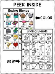 Free Ending Blends Chart Ending Blends Phonics Charts