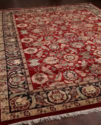 rugsville traditional wool red black rug 9 x 12