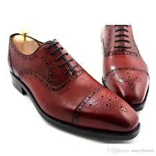 men dress shoes oxfords shoes men s shoes custom handmade shoes genuine leather full brogue design color brown hd n045