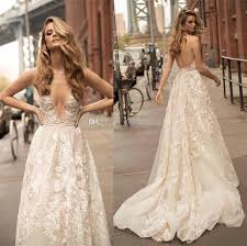 discount lace appliques beaded wedding dresses 2018 berta bridal