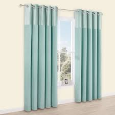 Linnet Duck Egg Panelled Velvet Faux Silk Eyelet Lined Curtains And Window  Treatments Ideas Bathroom Blue