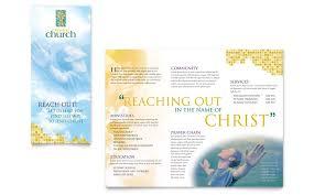 Free Church Brochure Templates For Microsoft Word Christian Church