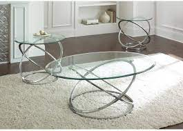 Get free shipping on qualified chrome coffee tables or buy online pick up in store today in the furniture department. Amazon Com Steve Silver Orion Oval Chrome And Glass Coffee Table Set Furniture Decor