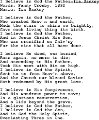 i believe in god the father ira sankey txt by ira sankey ira sankey hymn i believe in god the father ira sankey lyrics
