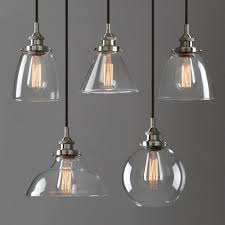 details about modern industrial brushed steel pendant light glass shade filament ceiling lamp