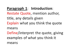 Expository Writing Prompt Responding to a Quote Analyze a Quote in     Paragraph    Relate to World Give     examples relating the quote to the