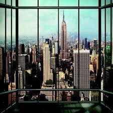 1 Wand Riesige Fototapete New York Fenster Landschaft Aussicht Ny