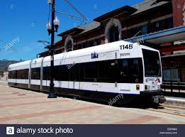 Newark New Jersey One Of The New Light Rail Trains Stopped