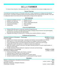 Resume Education Examples Best Education Assistant Director Resume Example Livecareer