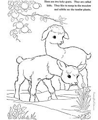 Small Picture Farm Animal coloring pages Goats to print and color 002