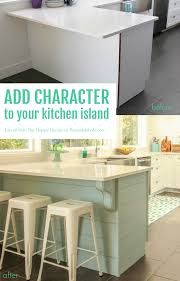 Peninsula Kitchen Remodelaholic Update A Plain Kitchen Island Or Peninsula With