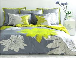 gray and yellow duvet cover large fl bed set good looking bedding sets uk