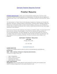 Alluring Sample Resume Of Fresher Teacher For Your Resume Format For